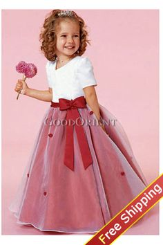 This is also very cute but maybe do black or silver for the tulle flower girl dress red red sweety flower girl dress mightylinksfo