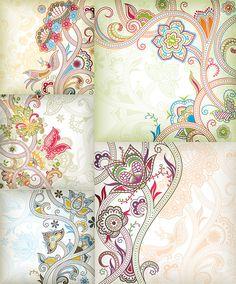特别的花纹蝴蝶矢量素材-花纹-矢量