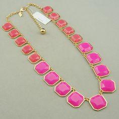 SALE longer cut gemstone statement necklace by dollarjewelry, $18.99