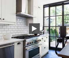 Designer Trish Johnston gave a Brooklyn-style vibe to this formerly cramped kitchen using a faux-brick veneer and stretching the cabinetry to the ceiling to hide ductwork. See how an inexpensive slate