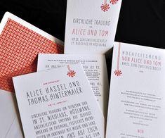 Einladungskarten, Hochzeitsbriefpapier, Hochzeitseinladung, Toms, Ehe,  Letterpress