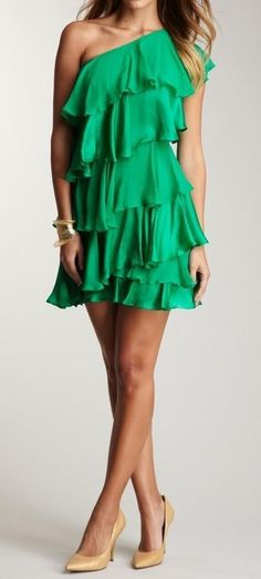 Halston Heritage- ahh the color and the ruffles just beautiful