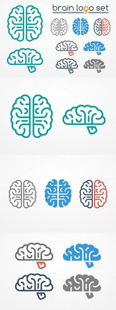 Brain logo set. Human Icons. $4.00