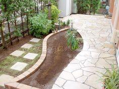 庭 テラス 石貼り パラストーン 乱形