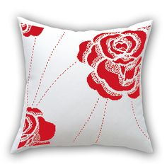 11 ct 100% HD cross stitch pillow car pillow rose's date 3pcs/ set white cloth Needlework free shipping -inNeedlework from Home & Garden on Aliexpress.com