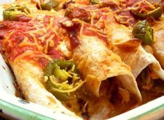 Ww Chicken Enchiladas from Food.com:   This is my variation of a real diet buster; Swiss Enchiladas by Pierre Dance. Our family loved Pierre's recipe so much, that when we started WW, we just had to make a low fat recipe. Enjoy.