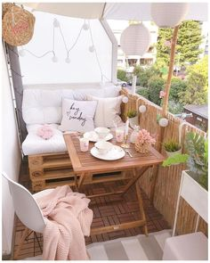 Balcony decoration - decorative suggestions & trends, DIY-I - small balcony ideas . - Balcony decoration – decoration suggestions & trends, DIY-I – small balcony ideas # Ba - Small Balcony Furniture, Small Balcony Decor, Outdoor Furniture Sets, Outdoor Decor, Small Patio, Balcony Ideas, Patio Ideas, Tiny Balcony, Furniture Legs