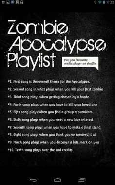 #1 Body snatchers 4 ever by Leathermouth, #2 Something's gotta give by All Time Low, #3 I Don't care ('cuz I'm just that badass) by fall out boy, #4 Paint your wings by All Time Low, #5 Novicane (bit weird) by Fall Out Boy, #6 Under a paper moon by All time low, #7 5th period massacre (fitting) by Leathermouth, #8 Time bomb by all time low, #9 I feel like dancing (um, NO!) By all time low, #10 Old scars/future hearts (pretty good) by all time low