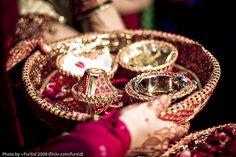 Indian wedding : The Puja ki thali...