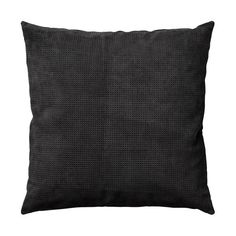 Perforated Suede Black Pillow by AYTM