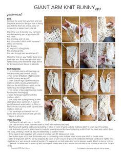 Arm knit bunny Sweet Paul Magazine