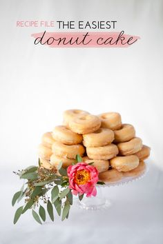 Because I never could have figured out how to stack store bought donuts without this tutorial. #whoneedsthisexplainedtothem?