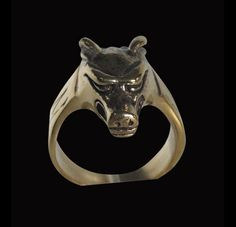 Bronze Nordic Wolf Norse Mythology Ring - Custom Size - Free Shipping #Handmade #Animal