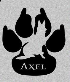 K9 Silhouette Paw Print Decal Dog by DCGifts4You on Etsy