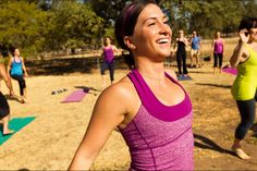 Is your regular yoga routine getting boring?  Check out Laughter Yoga!      [Image by lululemon athletica via Flickr]