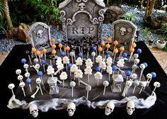 Cake pop grave yard