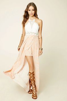 A maxi dress by Selfie Leslie #f21brandedshop