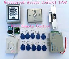 101.50$  Watch more here - http://air2u.worlditems.win/all/product.php?id=32393317041 - Metal Remote Control +Strike Lock + DIY 125KHz RFID Waterproof IP68 Metal Password Keypad Door Access Control System Kit  S100