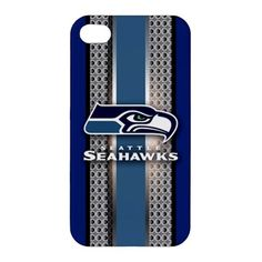 Seattle Seahawks Style Metal Design iPhone 4 4s Hardshell Case Cover