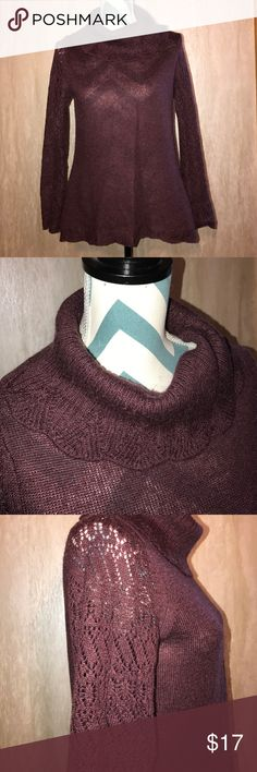"""Cowl Neck Sweater Gently Used Condition!  Light plum color Not sure of the fabric content but it includes wool and mohair US size L Armpit to armpit 18"""" Beautiful knit detailing  ➡️reasonable offers will be considered ➡️no lowball offers please ➡️no trades  ➡️Bundle and Save! Jared Ross an August Silk Company Sweaters Cowl & Turtlenecks"""