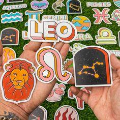 Leo Constellation, Zodiac Constellations, Leo Symbol, Pisces And Aquarius, Leo Lion, Mindfulness Activities, Leo Zodiac, Decorated Water Bottles, Sticker Design