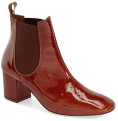 Nordstrom Topshop - Topshop 'Mary' Chelsea Boot (Women) available at Slip On Boots, Pull On Boots, Brown Booties, Ankle Booties, Chelsea Boots Heel, Beatle Boots, Patent Leather Boots, Jeweled Shoes, Short Boots