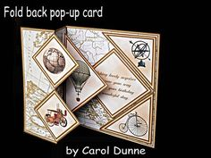 Fold back pop up Vintage on Craftsuprint designed by Carol Dunne - These fold back kits with a pop-up inside are very easy to make. The kits includes easy to follow photographic instructions. This one is for a male and the verse reads