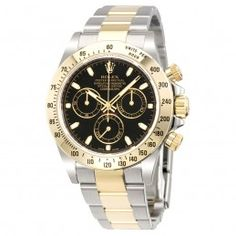 98e3552c411 Rolex Cosmograph Daytona Black Dial Stainless steel and Yellow Gold Rolex  Oyster Automatic Men s Watch