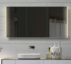 Badezimmer Spiegelschrank mit LED Beleuchtung lichtleitenden Acryl-Streifen…