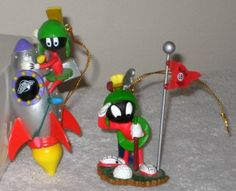 Marvin the Martian Lot Bobblehead PVC Figure Koosh Pen Magnet Ornament Keychain Looney Tunes Candles $65