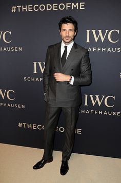Andres Velencoso attends the IWC Schaffhausen 'Decoding the Beauty of Time' Gala Dinner during the launch of the Da Vinci Novelties from the Swiss luxury watch manufacturer IWC Schaffhausen on January 17, 2017 in Geneva