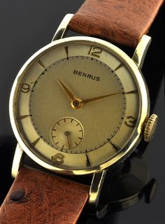 1950s solid gold 14k Benrus.