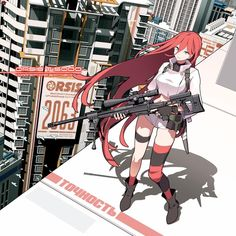 From a mobile-platform game Girl's Frontline. Female Character Design, Character Drawing, Character Concept, Concept Art, Girls Characters, Fantasy Characters, Anime Characters, Anime Military, Military Art