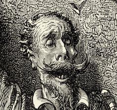 Gustave Doré - detalle de 'Don Quijote' - obra de Miguel de Cervantes