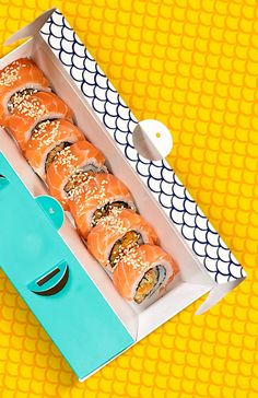 Packaging of the World is a package design inspiration archive showcasing the best, most interesting and creative work worldwide. Sushi Logo, Sushi Menu, Sushi Cake, Sushi Party, Takeaway Packaging, Food Packaging Design, Food Menu Design, Food Gallery, Sushi Design