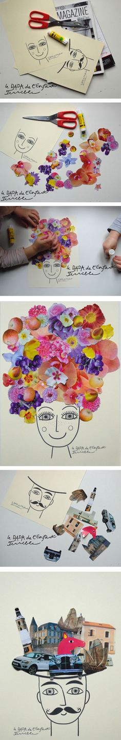 Let your kids turn their artwork into nature inspired portraits with this simple kids craft idea