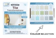 You Really Can Paint Tiles: Rust-Oleum Tile Transformations Kit - Pink Little NotebookPink Little Notebook Painting Bathroom Tiles, Painting Tile Floors, Tub Tile, Hall Bathroom, Bathroom Renos, Bathroom Ideas, Rustoleum Tile Transformations, Tile Paint Colours, Pink Tiles