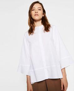 オーバーサイズポプリンシャツ-すべてを見る-シャツ ブラウス-レディ-ス | ZARA 日本