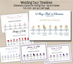 I would live timelines like these for out wedding party and out of town guests. Wedding Day Itinerary, Wedding Schedule, Wedding Day Timeline, Wedding Planning, Destination Wedding, Wedding Welcome Letters, Wedding Welcome Bags, Wedding Stationary, Wedding Programs