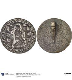 Halberstadt: Stadt Petschaft ca. 1223-1300 bzw. später Land: Deutschland (Land) Material: Bronze, Druckverfahren: geprägt Durchmesser: 83 mm