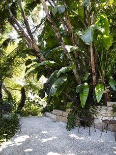 Ambient gravel courtyard space WD garden