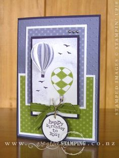 Awesome balloon pop-up card!