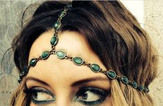 Emerald toned dreamcatcher headband by BohemeLife on Etsy