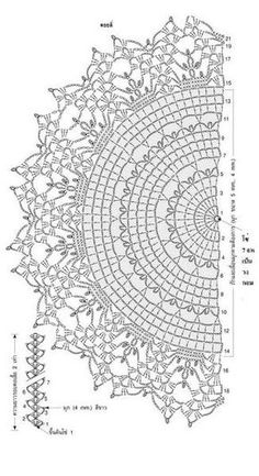 Como fazer mandalas com crochê ou crochê (Free Patterns) - The How to . Crochet Doily Diagram, Shawl Patterns, Crochet Stitches Patterns, Crochet Chart, Thread Crochet, Crochet Motif, Crochet Doilies, Crochet Round, Crochet Hooks