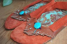 Ballet Moccasins Custom made with up cycled leather and hand sewn to the shape of your feet. by RustedAntlerDesigns, $150.00