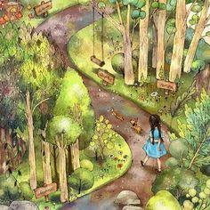 쉼표 한 잔 (A Cup Full of Commas) by 애뽈 on Grafolio Lovely Girl Image, Grafiti, Forest Girl, Korean Art, Book Girl, Anime Art Girl, Beautiful Artwork, Cute Art, Watercolor Art