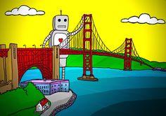 San Francisco - Golden Gate by Waxer, via Behance