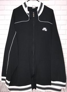 30947ddf14e9c3 Vtg Nike Air Jordan Jacket Mens Sz 3XL Black   Gray Zip Euc