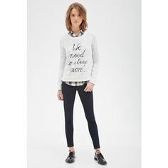 Forever 21 More Sleep Graphic Sweatshirt ($18) ❤ liked on Polyvore
