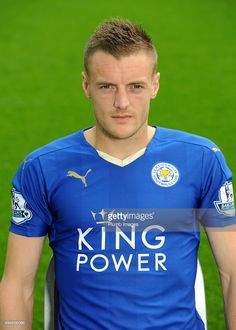 Jamie Vardy during the Leicester City photo call at King Power Stadium on October 23, 2015 in Leicester, United Kingdom.